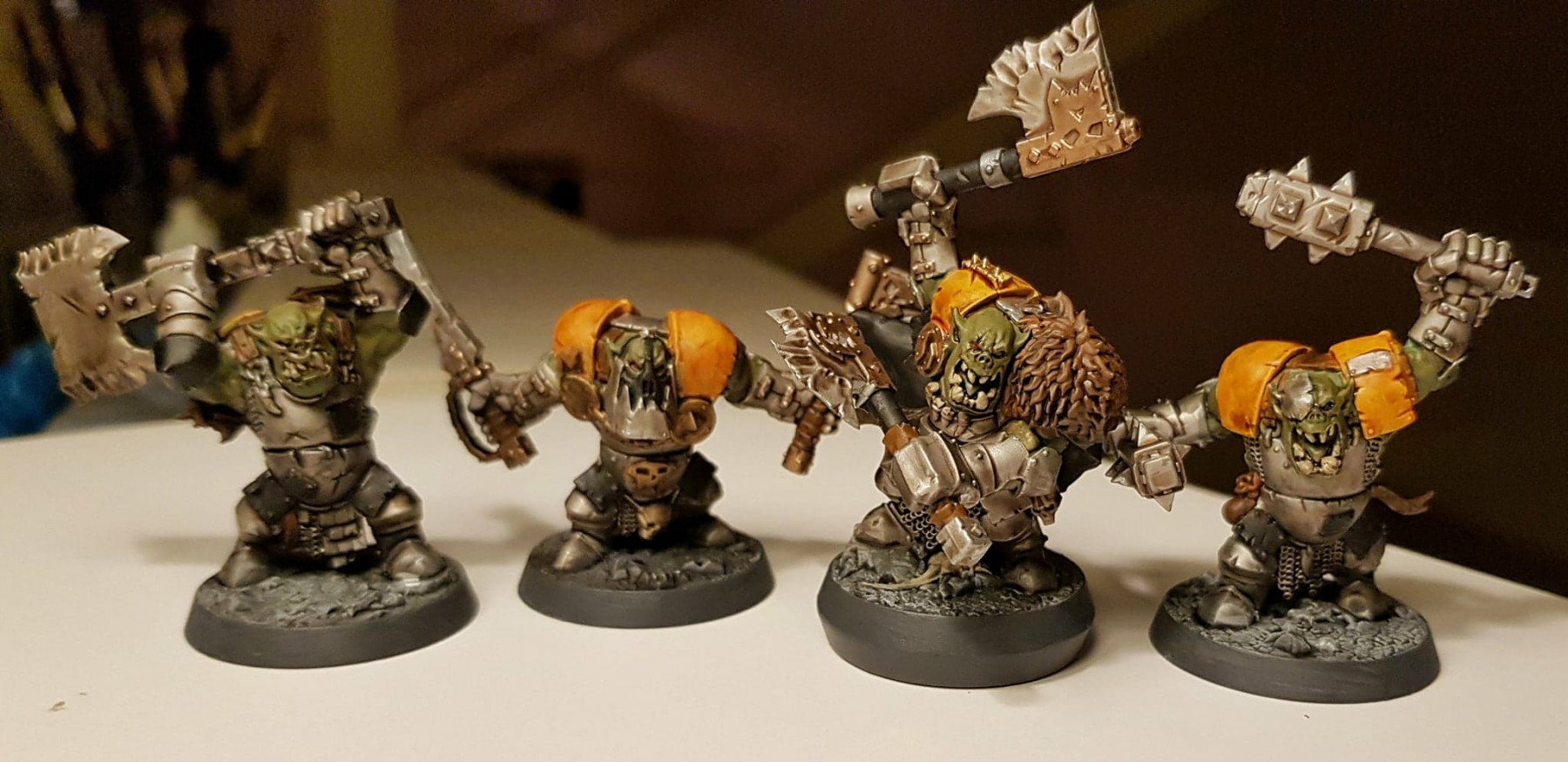 Orc Warband painted by Brandon McAuslan