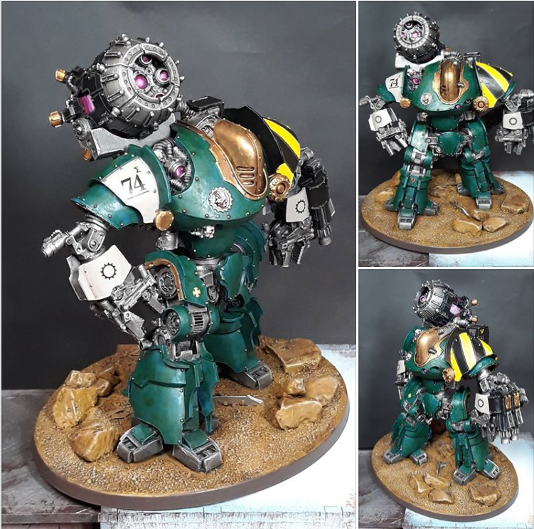 Mechanicum Thanatar Siege Automa painted by Carnage x Scissors