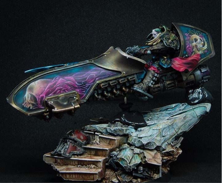 Custodes Jetbike painted using Water+ by Edo Kalkman