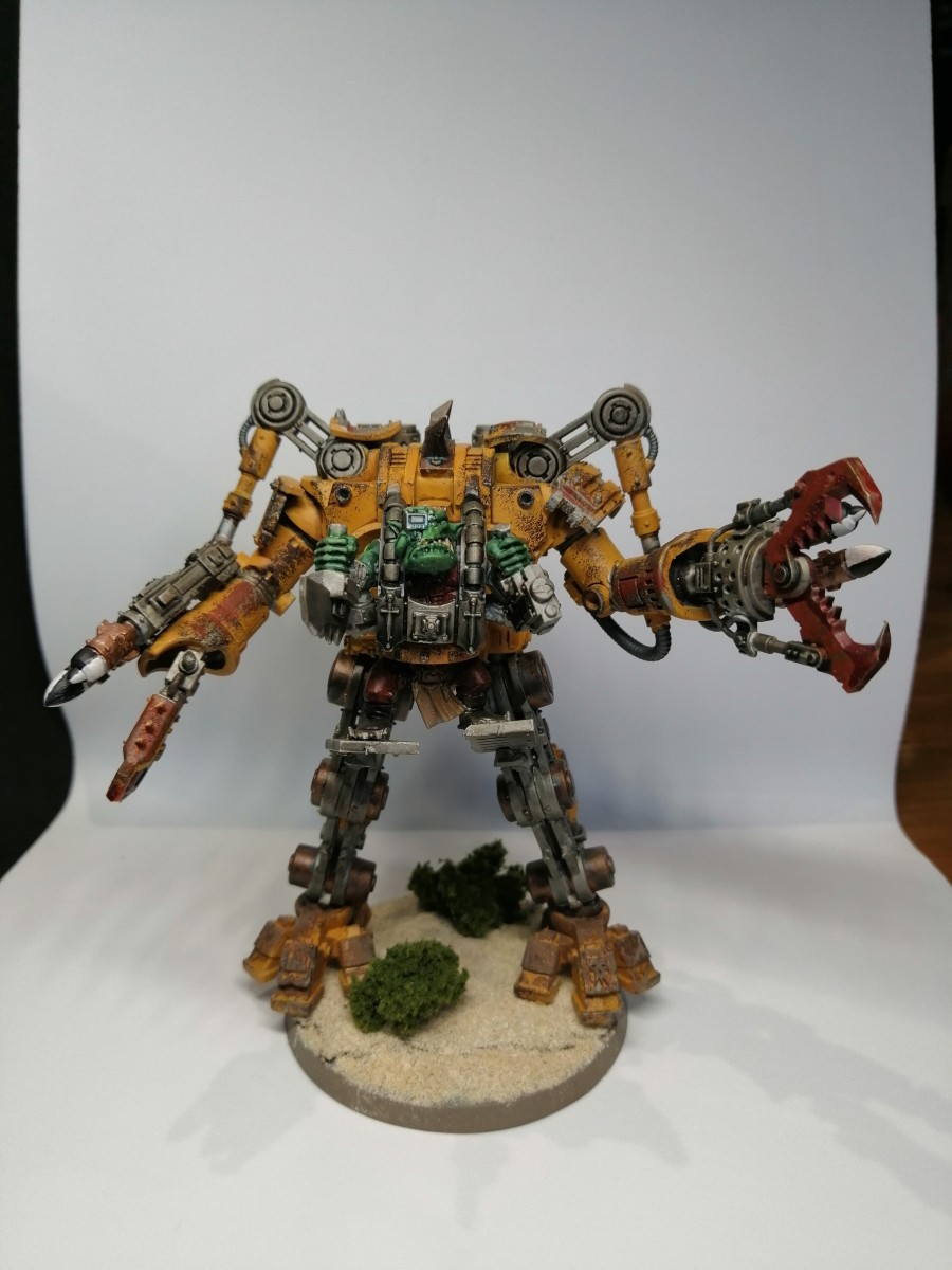 Ork Warsuit painted by Karl Righby