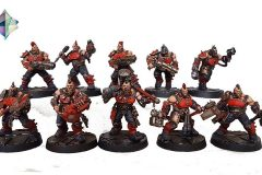 Necromunda Goliath Gang painted by Bournmouth Commission Services