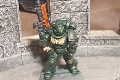 Dark Angel Primaris Marine painted by JewelKnightJess Miniature Painting