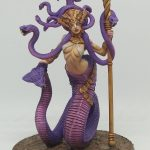 Naga Queen 3D print miniature using Alpha Pure Black, Pure White and Water+ by Guy Mulloy