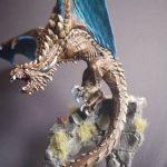 Wyvern by Anjuli/GeekGirlBook Worm painted using the Alpha range and Water+, Model from Reaper Miniatures Bones 4 Kickstarter