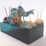 Reaper Diorama by Anjuli/GeekGirlBook Worm painted using the Alpha range and Water+